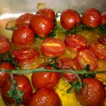 Oven baked tomatoes